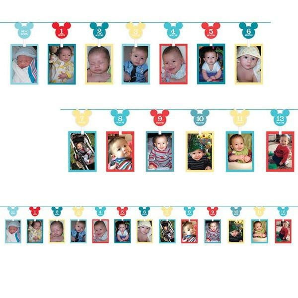 Mickey Mouse Photo Garland | 1st Birthday Supplies
