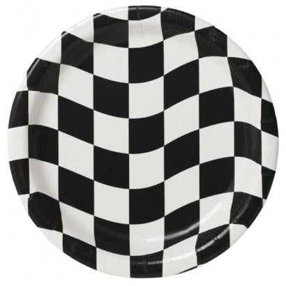 Unknown | Checkered Plates - Dinner | Racing Party Theme & Supplies |