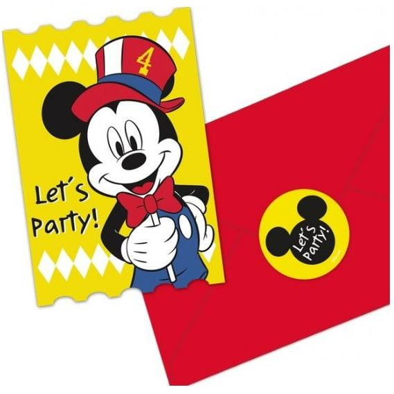 Amscan | Mickey Mouse Carnival Invitations | Mickey Mouse Party Theme & Supplies |