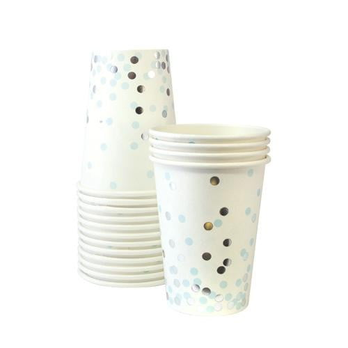 Paper Eskimo | Blue Confetti Cups | Blue Party Supplies