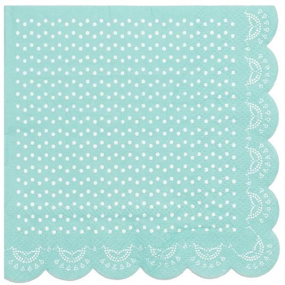 Sundays | Tiffany Blue Doily Napkins - Beverage