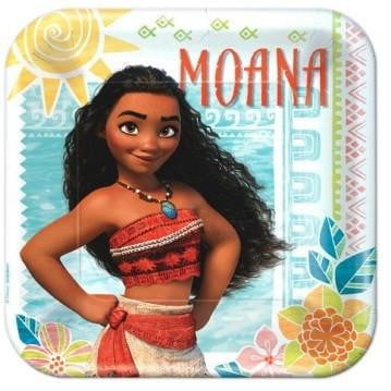 Amscan | Moana Plates - Dinner | Moana Party Theme & Supplies