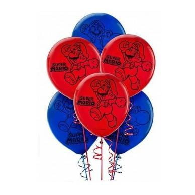 Amscan | Super Mario Brothers Balloons - Pack of 6 | Super Mario Brothers