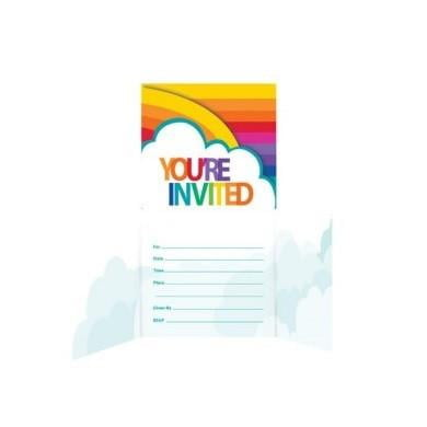 Creative Converting | Rainbow Invitations | Rainbow Party Theme & Supplies