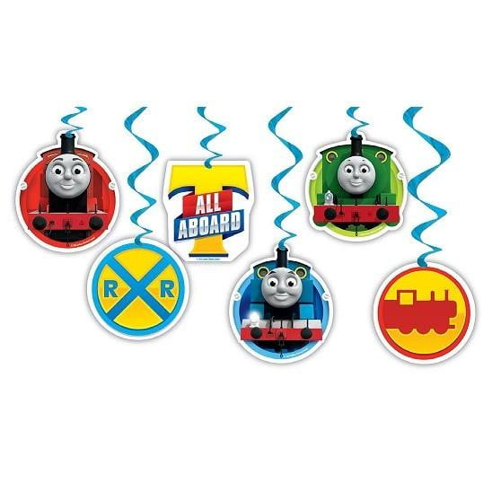 Artwrap | Thomas the Tank Engine Swirl Decorations | Train Party Theme & Supplies