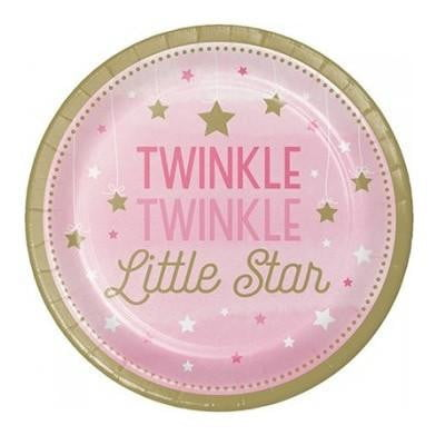 Twinkle Twinkle Little Star Plates | Girls 1st Birthday Supplies