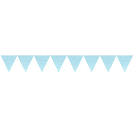 Creative Converting | Bunting Flags - Blue with Spots
