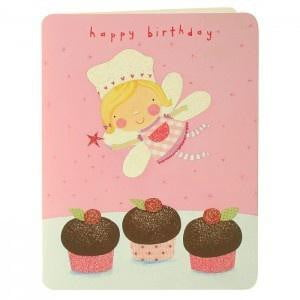 Cupcake Fairy Birthday Card