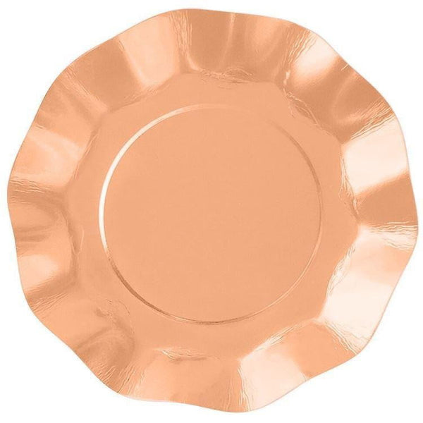 Rose Gold Ruffle Plates | Rose Gold Party Supplies