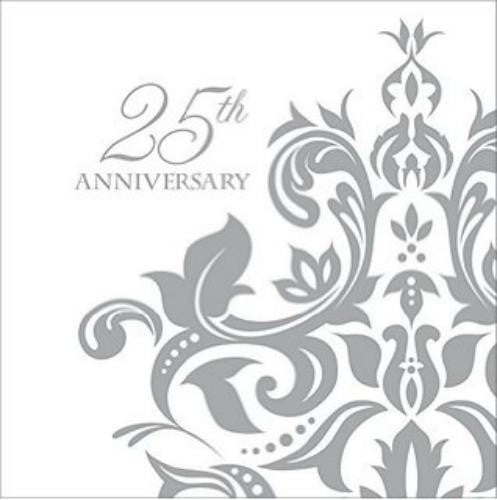 Paper Art | 25th Anniversary Napkins | 25th Anniversary Party Theme & Supplies