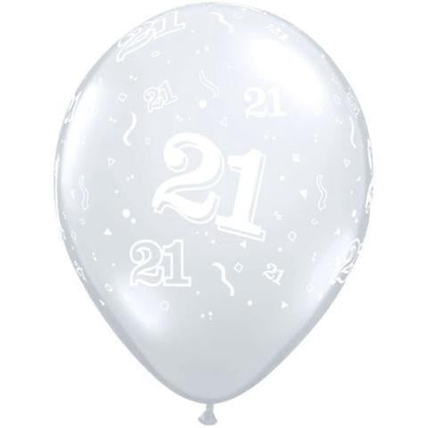 Qualatex | Diamond Clear 21st Balloon | 21st Party Theme & Supplies
