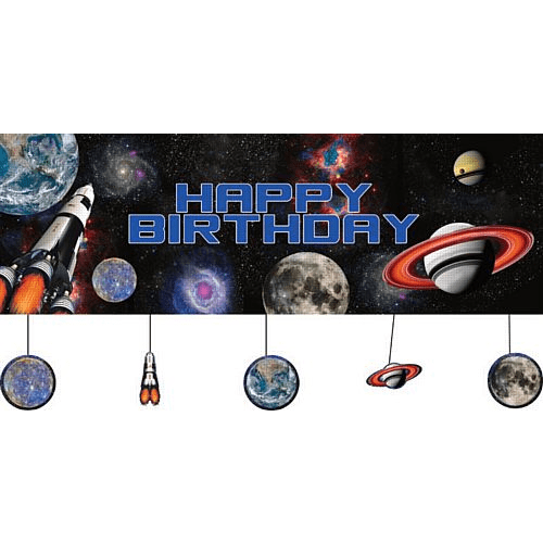 Space Birthday Banner | Space Party Supplies