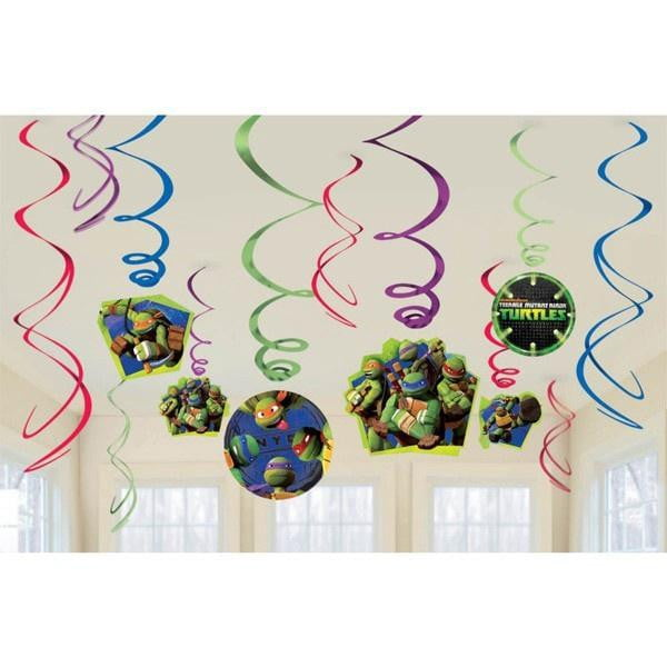 Teenage Mutant Ninja Turtle Hanging Swirl Decorations