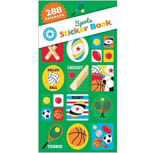 World Greetings | Sports Sticker Book WEB5860 | Sports Party Theme & Supplies