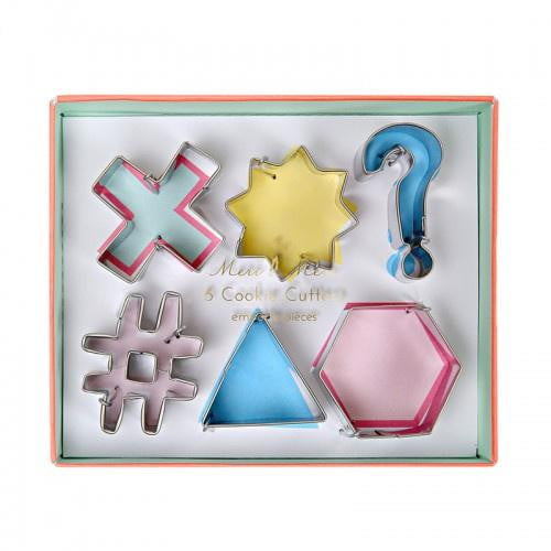 Meri Meri | Icon Shape Cookie Cutters | Cake Decorating Supplies