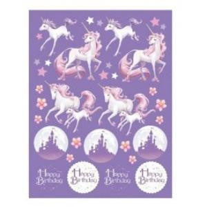 Creative Converting | Unicorn Fantasy Stickers | Unicorn Party Theme & Supplies