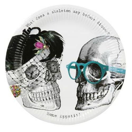 Talking Tables | Skeleton Crew Plates - Dinner | Halloween Party Theme & Supplies