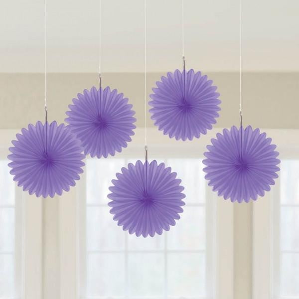 Purple Fan Decorations | Purple Party Theme and Supplies