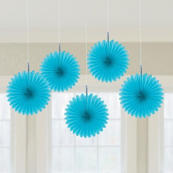 Blue Fan Decorations | Blue Party Theme and Supplies