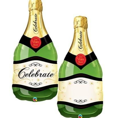 Champagne Bottle Balloon | Celebration Supplies