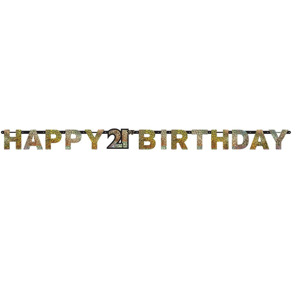 21st Birthday Banner | 21st Birthday Party Supplies