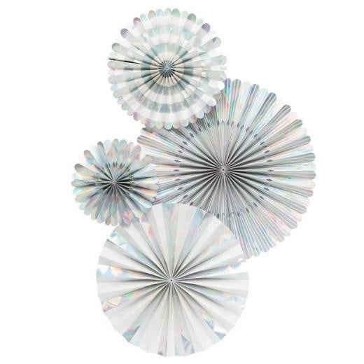 My Minds Eye Basics Party Fans - Holographic