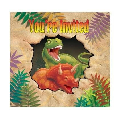 Paper Art | Dino Blast Invitations | Dino Blast Party Theme and Supplies |