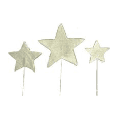 Silver Star Cake Decoration | Kids Birthday Party Supplies