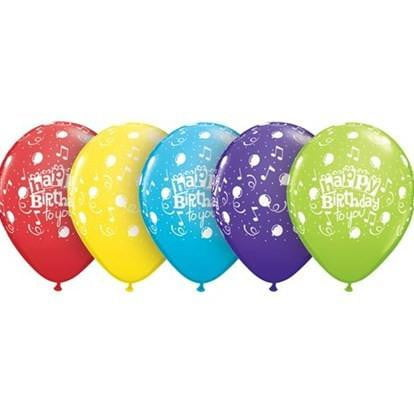 Music Happy Birthday Balloons | Music Party Theme and Supplies