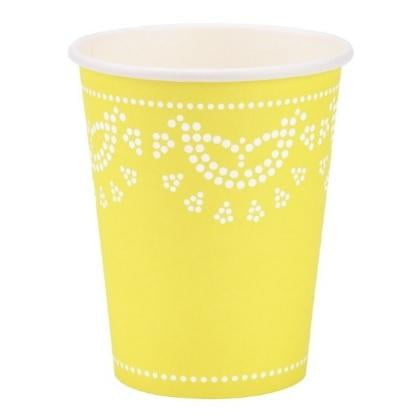Lemon Yellow Doily Cups