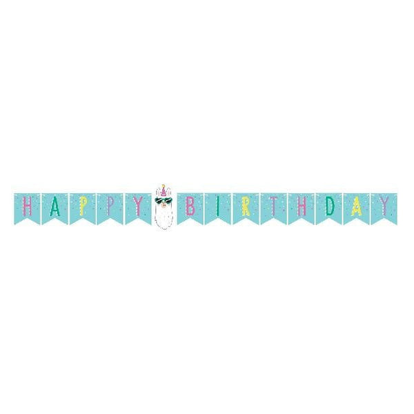 Amscan | Llama Party Happy Birthday Banner | Llama Party Theme & Supplies