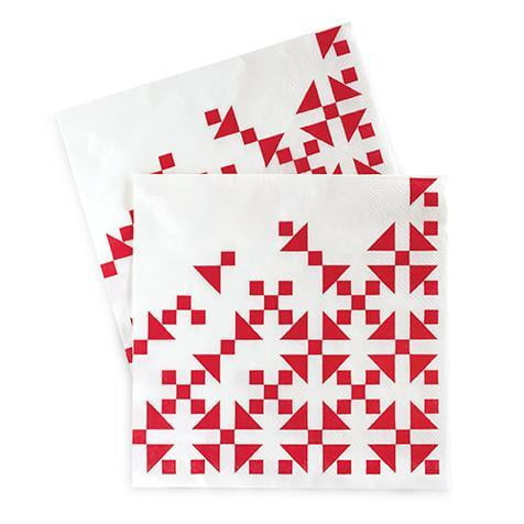 Paper Eskimo Aztec Red Napkins - Lunch