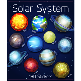Solar System sticker book | Space party theme and supplies