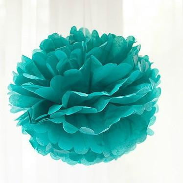 Teal Paper Pom Pom | Decoration themes and supplies
