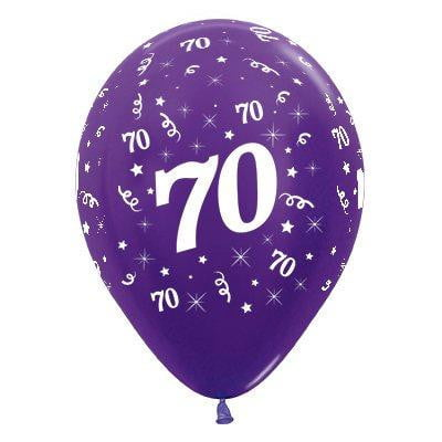 Sempertex | 6 Pack Age 70 Balloons - Metallic Purple