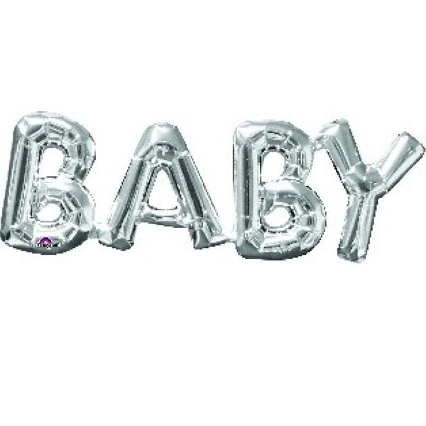 Silver Baby Balloon Banner | Baby Shower Decorations