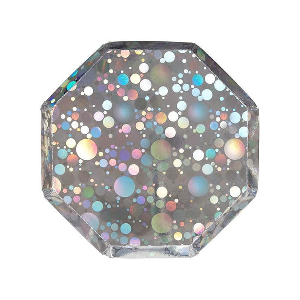 Meri Meri | Holographic Plates | Holographic Party Supplies