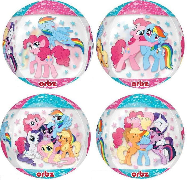 Anagram | My Little Pony Clear Orbz Balloon | My Little Pony Party Theme & Supplies |