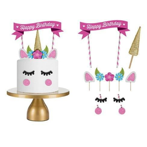 The Studio Workshop | Unicorn Cake Topper | Unicorn Party Supplies