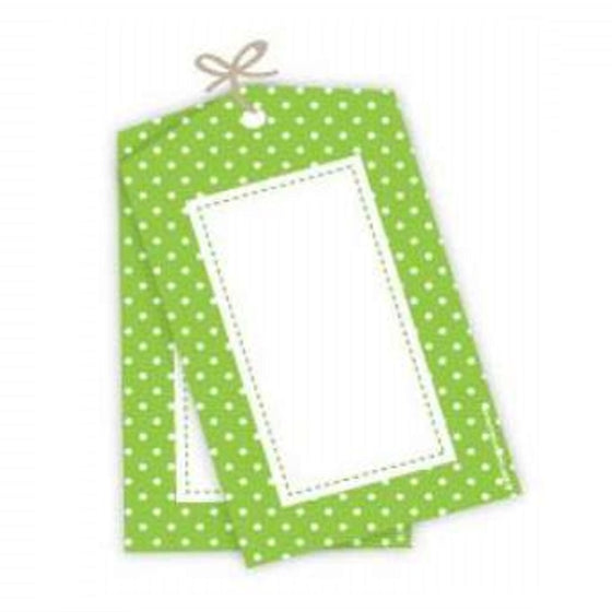 Sambellina Tags - Lime Green with White Polka Dot