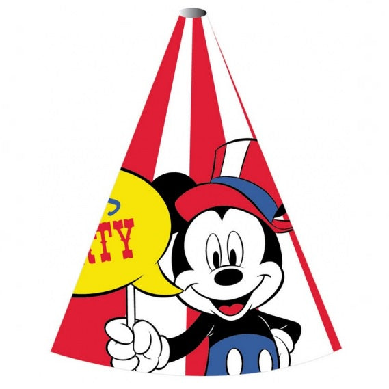 Amscan | Mickey Mouse Carnival Party Hats | Mickey Mouse Party Theme & Supplies |