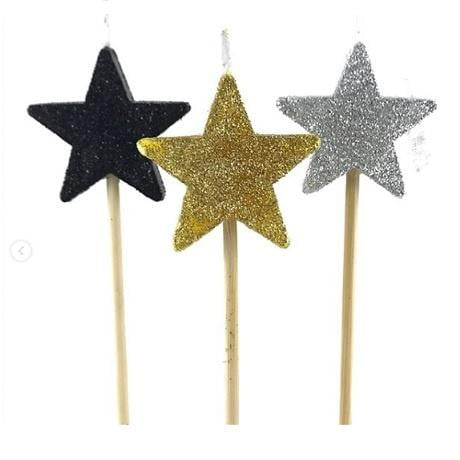 Papillon | Glitter Star Long Stick Candle
