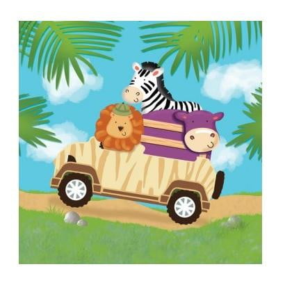 Safari Animal Napkins | Safari Adventure Party Supplies