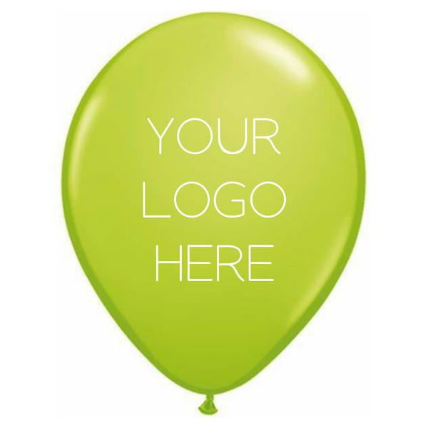 "Custom Printed 11"" Latex Balloons - One Side - Pack of 100"