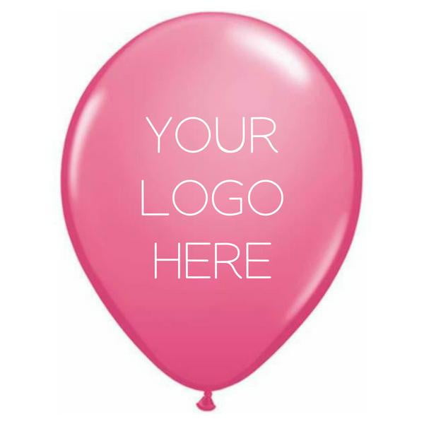 "Custom Printed 11"" Latex Balloon - One Side - Pack of 500"