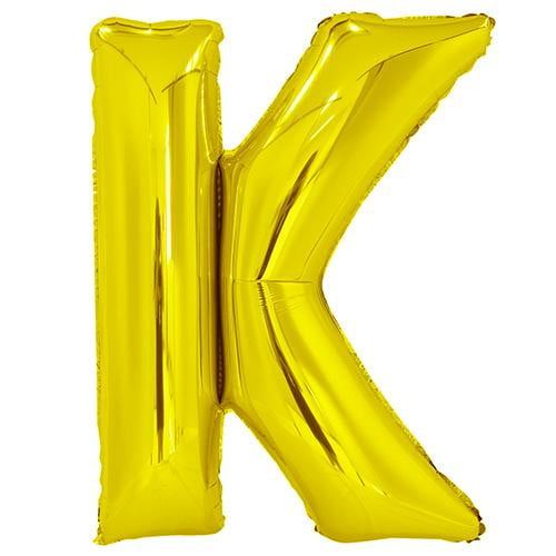 Giant Gold Letter Foil Balloon - K