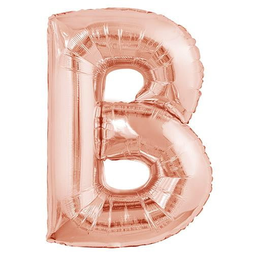 Rose Gold B Balloon | Rose Gold Party Supplies