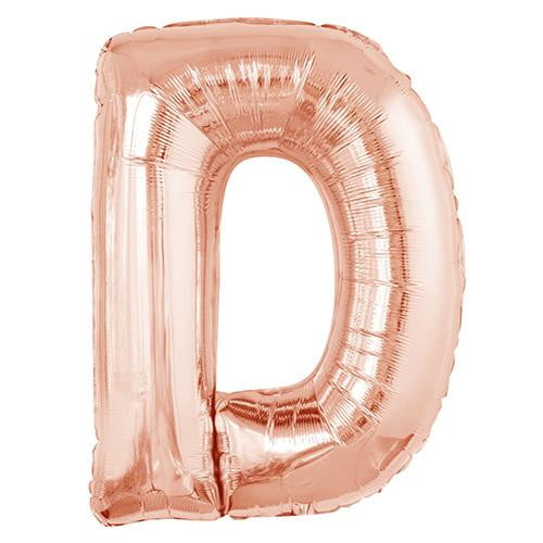 buy giant rose gold foil letter balloons online at build a birthday nz