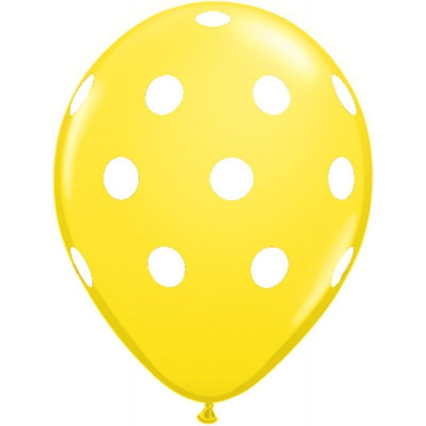 Yellow Polka Dot Balloon | Kids Birthday Party Supplies