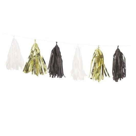 Unique | Tassel Garland - Gold, Black & White